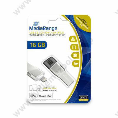 MEDIARANGE COMBO USB 3.0/APPLE LIGHTNING PENDRIVE 16GB MR981