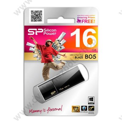 SILICON POWER BLAZE B05 USB 3.0 PENDRIVE 16GB FEKETE