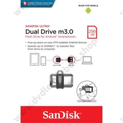 SANDISK USB 3.0 PENDRIVE ULTRA DUAL M3.0 OTG USB/MICROUSB 256GB