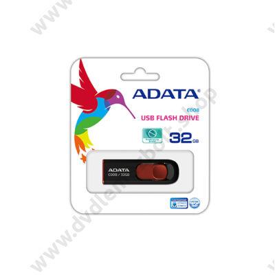 ADATA USB 2.0 PENDRIVE CLASSIC C008 32GB FEKETE/PIROS