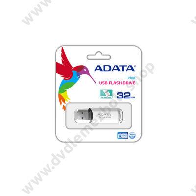 ADATA USB 2.0 PENDRIVE CLASSIC C906 32GB FEHÉR