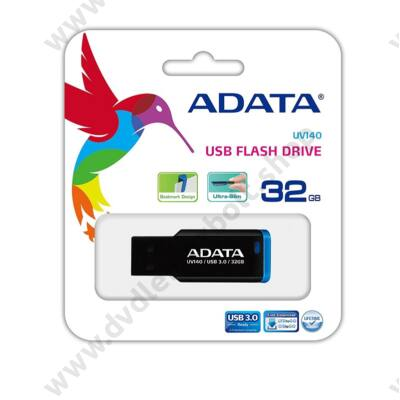 ADATA USB 3.0 PENDRIVE UV140 32GB FEKETE/KÉK
