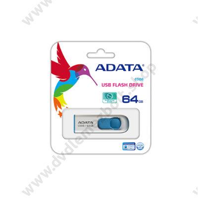 ADATA USB 2.0 PENDRIVE CLASSIC C008 64GB FEHÉR/KÉK