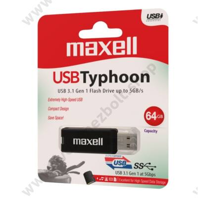 MAXELL USB 3.1 PENDRIVE TYPHOON 64GB