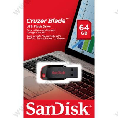 SANDISK USB 2.0 PENDRIVE CRUZER BLADE 64GB FEKETE