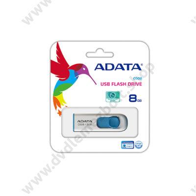 ADATA USB 2.0 PENDRIVE CLASSIC C008 8GB FEHÉR/KÉK