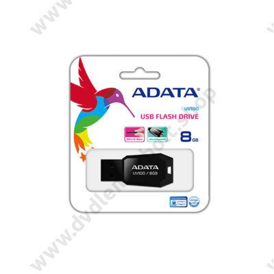 ADATA USB 2.0 PENDRIVE SLIM UV100 8GB FEKETE