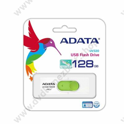 ADATA UV320 USB 3.1 PENDRIVE 128GB FEHÉR/ZÖLD