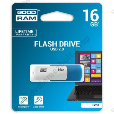 GOODRAM UCO2 USB 2.0 PENDRIVE 16GB KÉK/FEHÉR