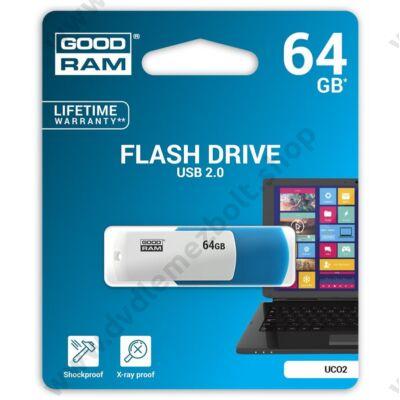 GOODRAM UCO2 USB 2.0 PENDRIVE 64GB KÉK/FEHÉR