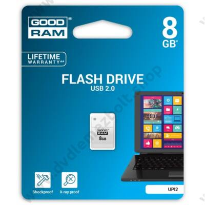 GOODRAM UPI2 PICCOLO USB 2.0 PENDRIVE 8GB FEHÉR