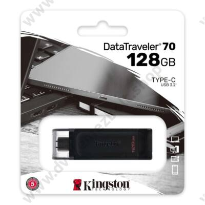 KINGSTON DATATRAVELER 70 USB-C 3.2 GEN 1 PENDRIVE 128GB