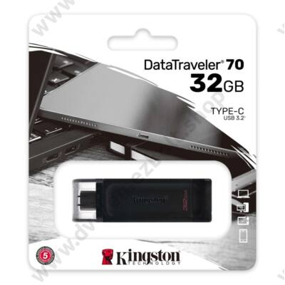 KINGSTON DATATRAVELER 70 USB-C 3.2 GEN 1 PENDRIVE 32GB