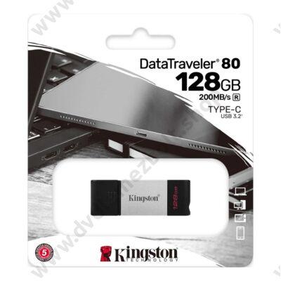 KINGSTON DATATRAVELER 80 USB-C 3.2 GEN 1 PENDRIVE 128GB