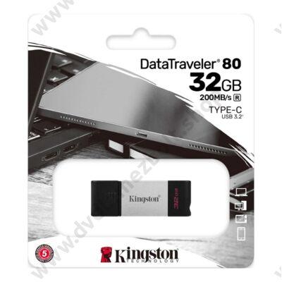 KINGSTON DATATRAVELER 80 USB-C 3.2 GEN 1 PENDRIVE 32GB