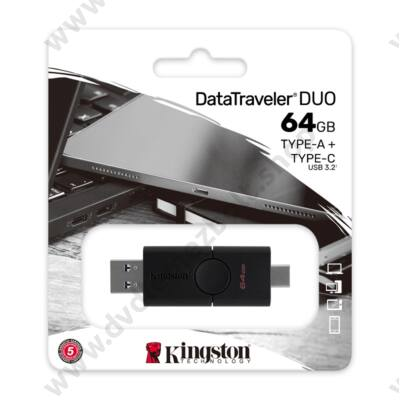 KINGSTON DATATRAVELER DUO USB 3.2 GEN 1 USB-A/USB-C PENDRIVE 64GB