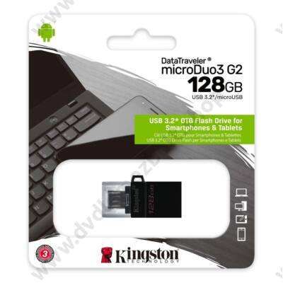 KINGSTON DATATRAVELER MICRODUO 3 G2 USB 3.2/MICRO USB PENDRIVE 128GB