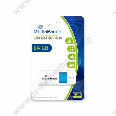 MEDIARANGE USB 2.0 PENDRIVE COLOR EDITION 64GB TÜRKIZKÉK MR974