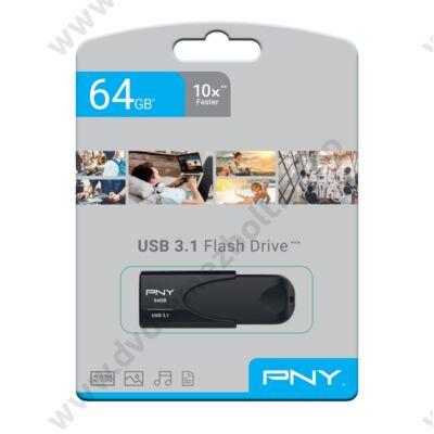 PNY ATTACHE 4 USB 3.1 PENDRIVE 64GB FEKETE