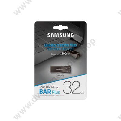 SAMSUNG BAR PLUS USB 3.1 PENDRIVE 32GB SZÜRKE