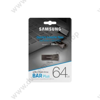 SAMSUNG BAR PLUS USB 3.1 PENDRIVE 64GB SZÜRKE
