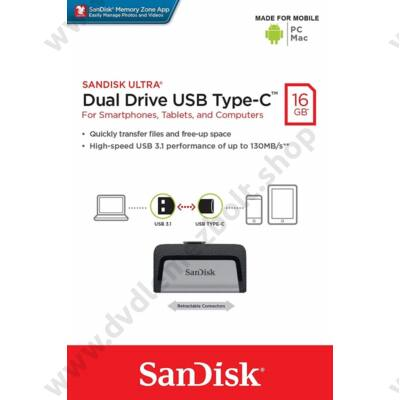 SANDISK ULTRA DUAL DRIVE USB 3.1 TYPE-C/USB 3.1 OTG PENDRIVE 16GB