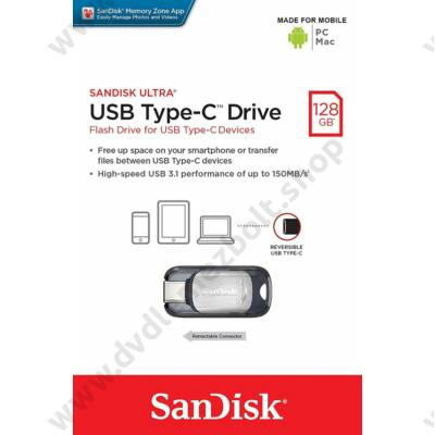 SANDISK ULTRA USB 3.1 TYPE-C PENDRIVE 128GB