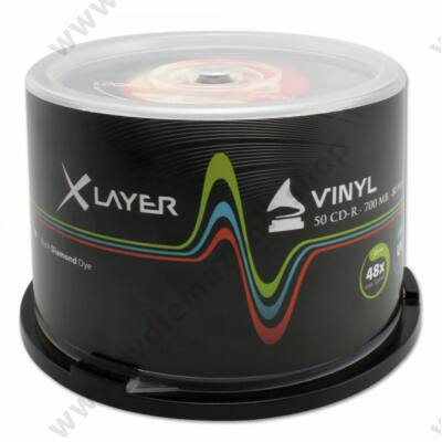 XLAYER CD-R 48X BLACK VINYL CAKE (50)